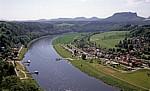 Blick auf Rathen - Sächsische Schweiz