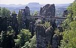 Bastei: Basteibrücke vom Ferdinandstein - Sächsische Schweiz