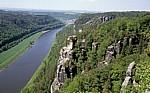 Bastei: Blick auf den Wartturm und die Elbe - Sächsische Schweiz