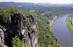 Bastei: Blick auf Rathen - Sächsische Schweiz