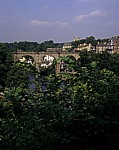 Blick auf den Fluß Nidd und die Stadt  - Knaresborough