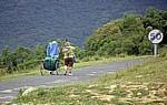 Jakobsweg (Navarrischer Weg): Pilger - Alto del Perdón