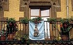 """Balkonschmuck für das Fest """"Virgen del Puy"""" - Estella"""