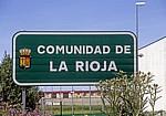 "Jakobsweg (Camino Francés): Hinweisschild ""Comunidad de La Rioja"" (Provinzgrenze) - Navarra"
