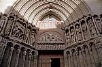 La Concatedral de Santa María de la Redonda: Eingangsportal - Logroño