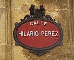 "Straßenschild ""Calle Hilario Perez"" - Santo Domingo de la Calzada"