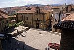Blick vom Glockenturm der Kathedrale: Plaza del Santo - Santo Domingo de la Calzada