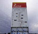 "Jakobsweg (Camino Francés): Hinweisschild ""Junta de Castilla y León"" - La Rioja"