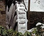 Wassermühle: Vereistes Wasserrad - Bad Essen