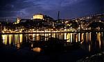 Ribeira bei Nacht. - Vila Nova de Gaia