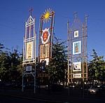 Campo da Republica: Dekorationen - Barcelos