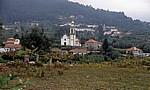 Jakobsweg (Caminho Português): Blick auf den Ort - Arcozelo
