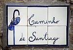 """Jakobsweg (Caminho Português): Azulejo """"Caminho de Santiago"""" - Distrito de Viana do Castelo"""