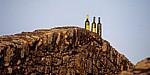 Fortaleza (Festung): Weinflaschen auf der Festungsmauer - Valença