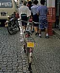 Fahrrad mit Nummernschild - Vila Real de Santo António