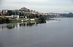 Blick von der Ponte internacional (Internationale Brücke) über den Rio Minho auf Tui - Valença