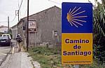 "Hinweisschild ""Camino de Santiago"" - Tui"