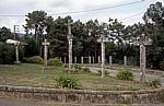 Jakobsweg (Caminho Português): Wegkreuze - Ribadelouro