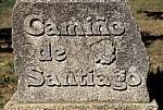 """Jakobsweg (Caminho Português): Wegstein """"Camiño de Santiago"""" - Barreiras"""