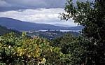Jakobsweg (Caminho Português): Blick auf Ría de Vigo - Pontevedra