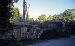 Jakobsweg (Caminho Português): Ruine der Herberge von Malaposta - Lomba