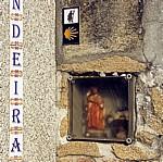 Jakobsweg (Caminho Português): Kleiner Schrein in einer Hauswand - Arcade