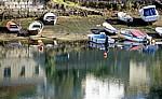 Jakobsweg (Caminho Português): Boote am Río Verdugo - Arcade