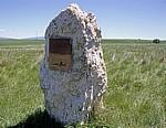 Hinweistafel für die archäologische Ausgrabungsstätte Atapuerca - Castilla y León