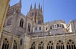 Catedral de Burgos (Kathedrale): Blick über den Claustro (Kreuzgang) auf den Vierungsturm - Burgos