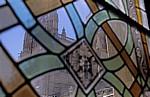 Catedral de Burgos (Kathedrale): Blick durch ein Fenster im Claustro (Kreuzgang) - Burgos