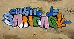 "Jakobsweg (Camino Francés): Graffiti ""Camino de Santiago "" - Rabé de las Calzadas"