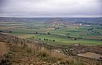 Jakobsweg (Camino Francés): Blick auf die Meseta und Castrojeriz - Alto de Mostelares