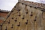 Jakobsweg (Camino Francés): Giebel eines Palomares (Taubenhaus) - Boadilla del Camino