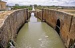 Jakobsweg (Camino Francés): Canal de Castilla - Schleuse - Frómista