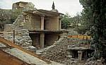 Rekonstruiertes Doppelgeschoß - Knossos