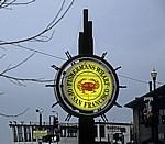 Fisherman's Wharf: Logo mit Krabbensymbol - San Francisco