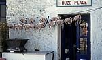 Zum Trocknen aufgehängte Kraken (Octopus vulgaris) - Naoussa