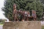 Jakobsweg (Camino Francés): Skulptur - Calzada del Coto