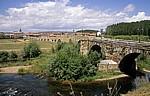Jakobsweg (Camino Francés): Blick auf den Ort - Hospital de Órbigo