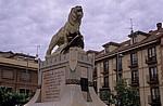 Jakobsweg (Camino Francés): El Monumento de Santocildes (Denkmal) - Astorga