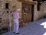 Jakobsweg (Camino Francés): Werkstatt für Pilgerstäbe - El Acebo