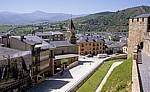 Jakobsweg (Camino Francés): Blick vom Castillo de los Templarios (Templerburg) - Ponferrada