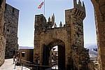 Jakobsweg (Camino Francés): Castillo de los Templarios - Haupttor (Innenansicht) - Ponferrada