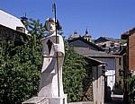 Jakobsweg (Camino Francés): Pilgerstatue - Villafranca del Bierzo