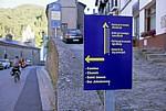 """Jakobsweg (Camino Francés): Hinweisschild für den """"Camino duro"""" - Villafranca del Bierzo"""