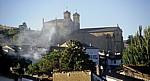Jakobsweg (Camino Francés): Rauch vor der Iglesia de San Francisco - Villafranca del Bierzo