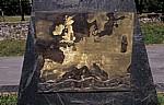 """Jakobsweg (Camino Francés): Karte """"El Camino de Santiago"""" in Europa - O Cebreiro"""