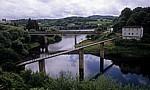 Jakobsweg (Camino Francés): Fußgängerbrücken über den Belesar-Stausee (Seitenarm)  - Portomarin