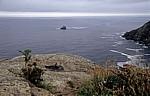 Jakobsweg (Camino a Fisterra): Blick auf den Golf von Biskaya - Kap Finisterre