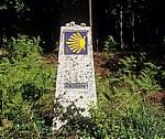 Jakobsweg (Caminho Português): Camino-Wegstein - Bértola